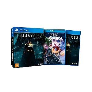 Injustice 2 + Filme Liga Da Justiça Sombria - Usado - PS4