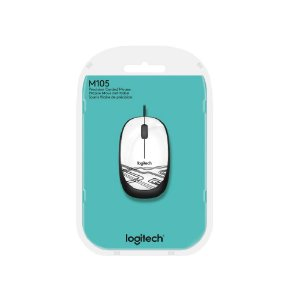 Mouse com fio USB Logitech M105 - Branco