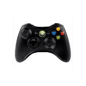 Controle Microsoft Preto Sem Fio - Usado - Xbox 360