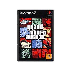 Grand Theft Auto III (GTA III) - Usado - PS2