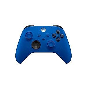 Controle Sem Fio Xbox Series Shock Blue - Usado - Microsoft