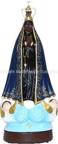 Nossa Senhora Aparecida com Oração da Ave Maria com Coroa