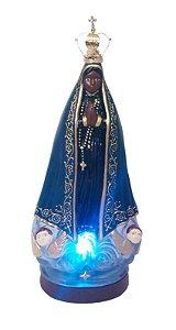 Nossa Senhora Aparecida Luminosa com a Oração da Ave Maria com coroa