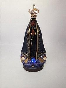 Nossa Senhora Aparecida Luminosa com a Oração do terço com coroa