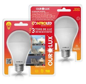 Lampada Led Controled 3 Tons de Luz