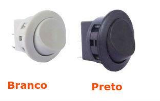 Interruptor Tecla Unipolar Redondo 6A - 16.101