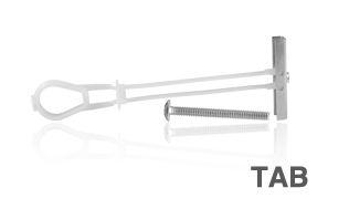 Bucha Fixação p/Bases Ocas 1/4'' c/Parafuso 21/2'' TAB