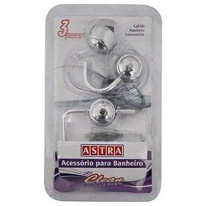 Acessorios Banheiro Astra - Kit 3 Peças