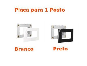 Sleek para Moveis - Placa 1 Posto Margirius
