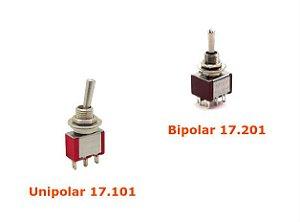 Interruptor Alavanca Unipolar - Serie 17.000 Micro