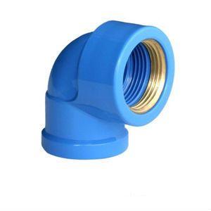 Cotovelo Azul Soldavel x Rosca Metal
