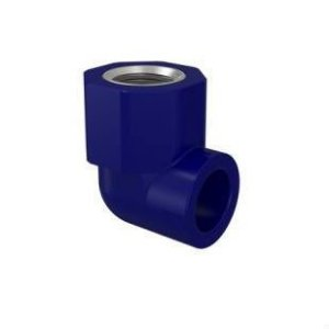 PPR Azul - Cotovelo Liso x Rosca Metal