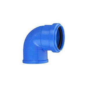 Cotovelo Esgoto Azul com Anel 38mm x 90º