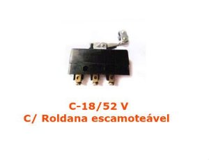 Micro Switch Limit C-18/52 V Roldana escamoteável