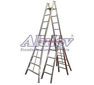 Escada Aluminio Pintor Dupla PN