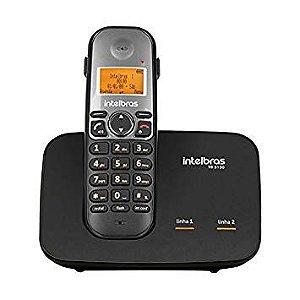 Telefone Intelbras Sem Fio Digital com entrada para 2 linhas TS 5150