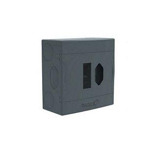 Caixa Eletrica Cinza Top p/Tomada + Disjuntor