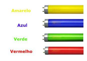 Lampada Tubular Fluor Colorida 20W