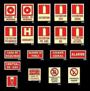 Etiqueta Combate a Incêndio e Alarme