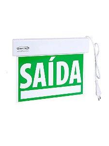 Iluminação de Emergencia - Sinalização Saida SLIM