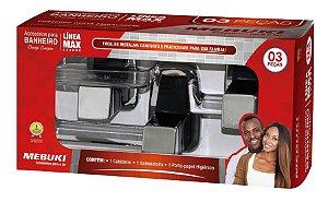 Acessorios Banheiro Linea Max - Kit 3 Peças