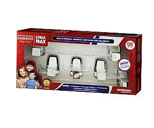 Acessorios Banheiro Linea Max - Kit 6 Peças