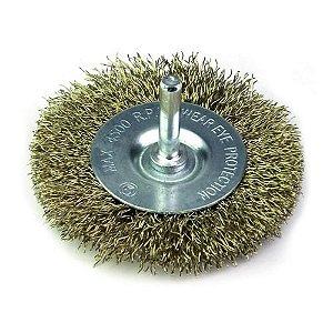 Escova de Aço Circular com Haste