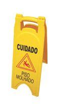 Cavalete de Sinalização - Cuidado Piso Molhado