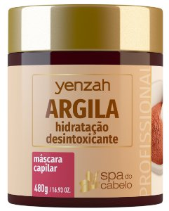 Yenzah Máscara de Argila - Hidratação Desintoxicante - Linha SPA do Cabelo