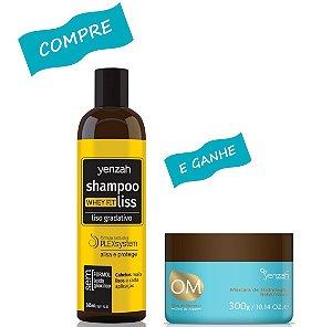 Yenzah Shampoo Whey Fit Liss 365ml +  Yenzah Máscara OM Argan 300g