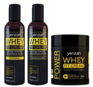 Whey Fit Cream: Shampoo + Condicionador + Máscara