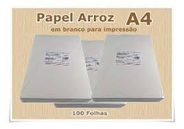 Papel Arroz A4 -100 unidades