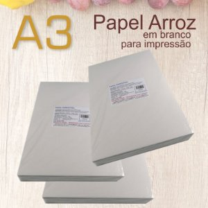 Papel Arroz A3 (50 folhas )