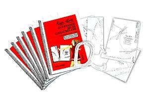 Kit 6 Livros 1º Volume com Gabaritos Plásticos com 20% de desconto