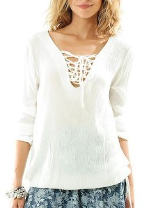 BLUSA CREPE INDIANO OFF WHITE