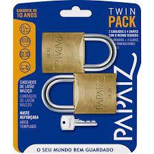 Cadeado PAPAIZ TwinPack CR20 2 pçs