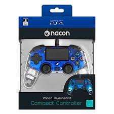 CONTROLE COMPACTO PRO NACON ILUMINADO AZUL PARA PLAYSTATION 4
