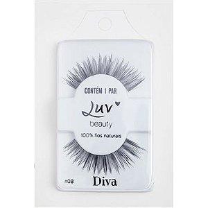 Cílios Postiços Naturais #08 Diva - Luv Beauty