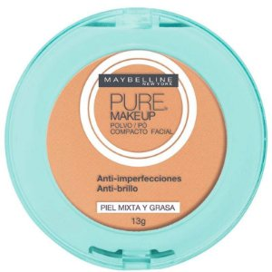 Pó Compacto Natural - Maybelline Pure Makeup Natural -  13g