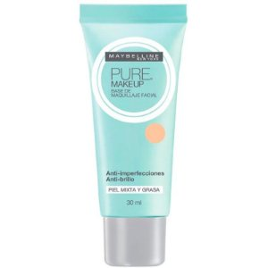 Maybelline Pure Makeup Bege Claro - Base Líquida 30ml