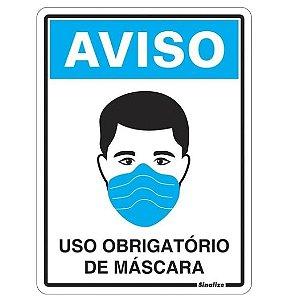 PLACA 15X20 USO MASCARA