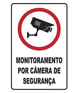 PLACA 20X30 MONITORAMENTO CAMERA