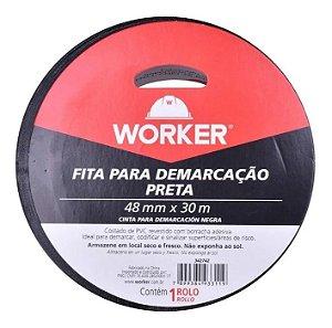 FITA DEMARCACAO ADESIVA 30M PR WORKER