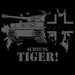Camiseta Achtung Tiger! - Vestindo História