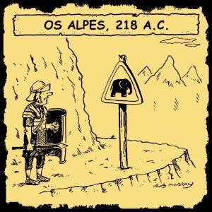Camiseta Aníbal Barca cruza os Alpes, 216 a.C.