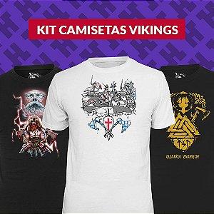 Kit Camisetas Vikings - Vestindo História