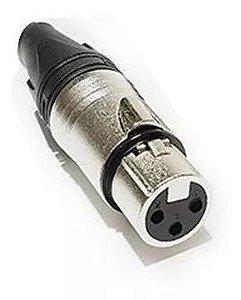 Conector XLR Femea Datalink