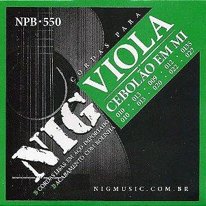 NIG 010-0135 - Para viola corda de aço - em MI
