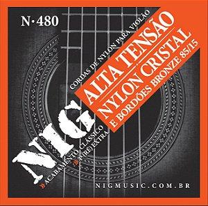 NIG - Para violão corda de Nylon Cristal - Bordões de Bronze