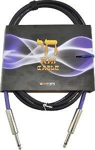 """Cabo TECNIFORTE RAI CABLE/ """"RETO"""" - P10 X P10 - 4,58mm"""